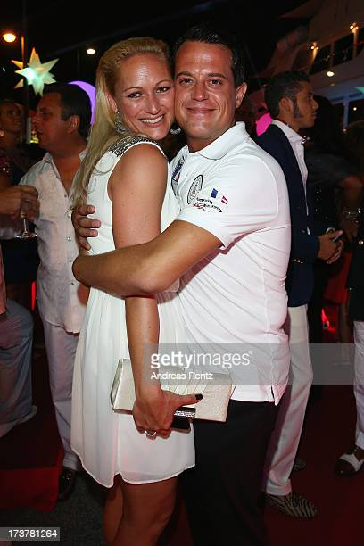Daniela Hentze and Gregor Glanz attend the Denise Rich annual St Tropez party on July 17 2013 in SaintTropez France