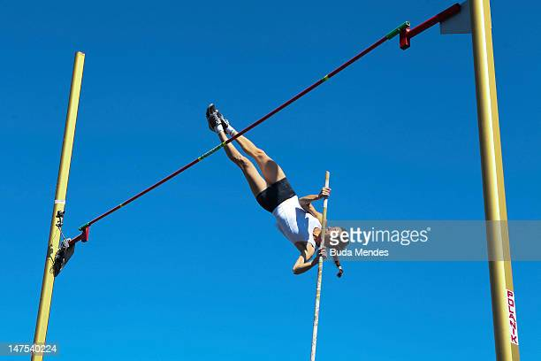 Daniela Inchausti of Argentina competes in the womens Pol Vault event during the fifth day of the Trofeu Brazil/Caixa 2012 Track and Field...