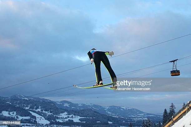 Daniela IraschkoStolz of Austria competes during day two of the Women Ski Jumping World Cup event at SchattenbergSchanze Erdinger Arena on January 25...