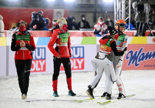 DEU: FIS Nordic World Ski Championships Oberstdorf - Women's Ski Jumping Team HS106