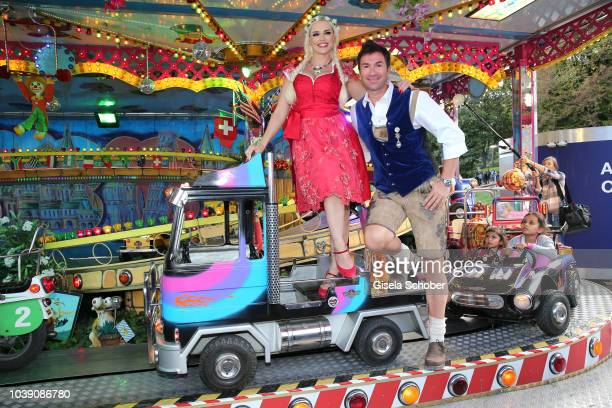 Daniela Katzenberger and her husband Lucas Cordalis during the Oktoberfest 2018 at Theresienwiese on September 23 2018 in Munich Germany