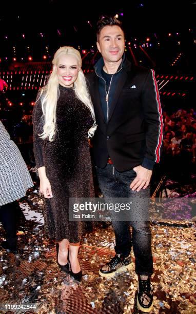 Daniela Katzenberger and her husband singer Lucas Cordalis during the television show Schlagerchampions Das grosse Fest der Besten at Velodrom on...