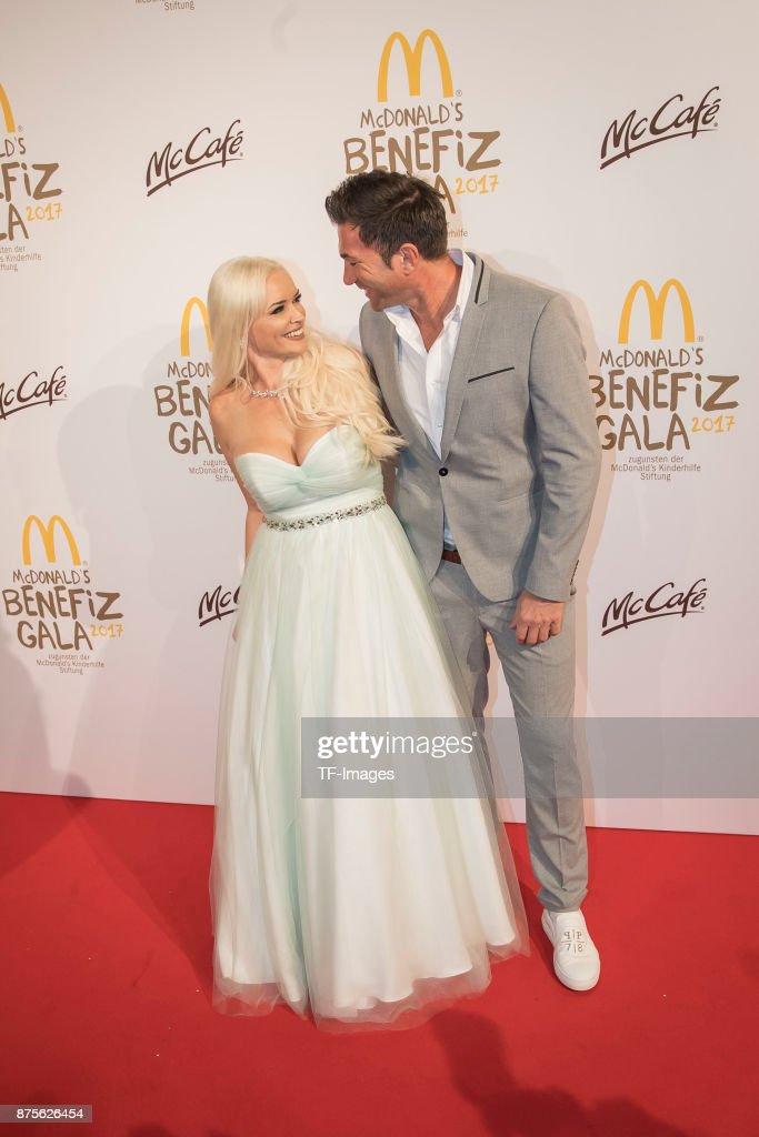 Daniela Katzenberger and Lucas Cordalis attend the McDonald's charity gala at Hotel Bayerischer Hof on November 10, 2017 in Munich, Germany.