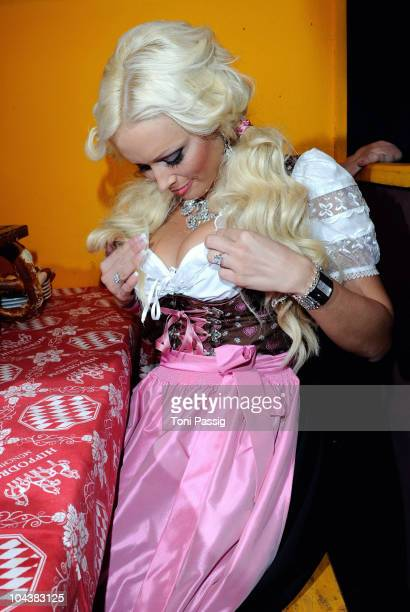 Daniela Katzenberger arrives for the second evening at the Hippodrom during Oktoberfest 2010 at Theresienwiese on September 19 2010 in Munich Germany