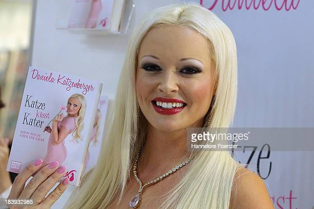 Daniela Katzenberger author model attends the Frankfurt Book Fair on October 10 2013 in Frankfurt am Main Germany This year's fair will be open to...