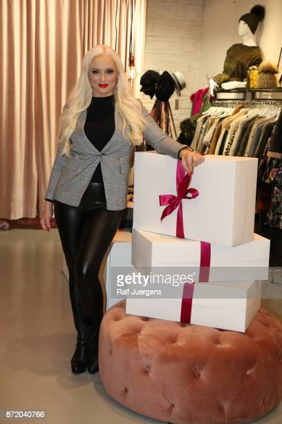 Daniela Katzenberger poses during a photo call for her new tv show '3 Boxen dein Style Mit Daniela Katzenberger' on November 9 2017 in Cologne Germany