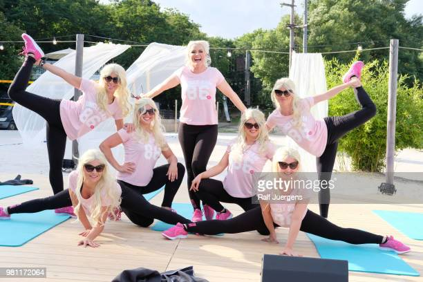 Daniela Katzenberger presents her collection for Uncle Sam Sportswear by Daniela Katzenberger on June 21 2018 in Cologne Germany