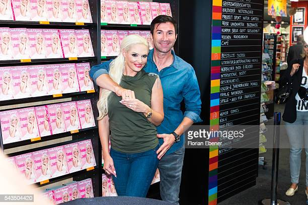 Daniela Katzenberger presents with Lucas Cordalis her new book 'Eine Tussi sagt Ja' on June 28 2016 in Cologne Germany