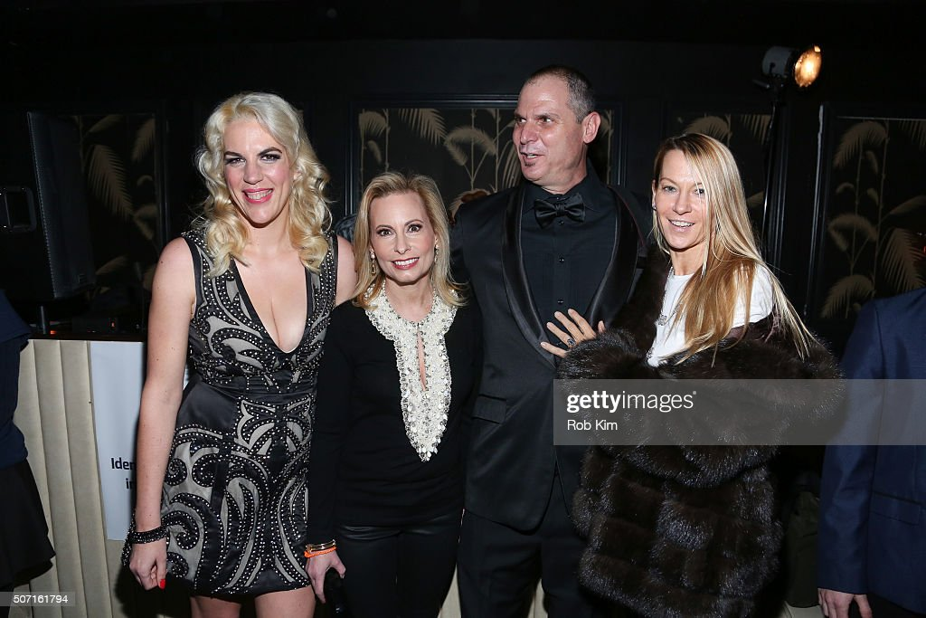 Daniela Kirsch, Gillian Miniter and Steve Eichner attend the launch party for NameFace.com at No. 8 on January 27, 2016 in New York City.