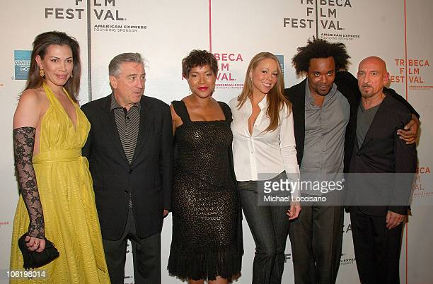Daniela Lavende actor Robert De Niro his wife Grace Hightower singer Mariah Carey producer Lee Daniels and actor Sir Ben Kingsley attend the premiere...