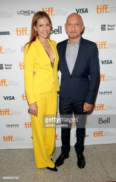 Daniela Lavender and actor Sir Ben Kingsley attends the 'Learning to Drive' premiere during the 2014 Toronto International Film Festival at The Elgin...