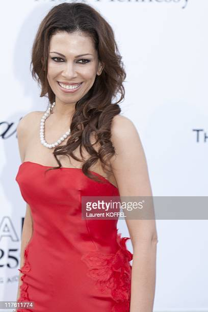 Daniela Lavender arrives at amfAR's Cinema Against AIDS Gala 2011 at Hotel Du Cap on May 19 2011 in Antibes France