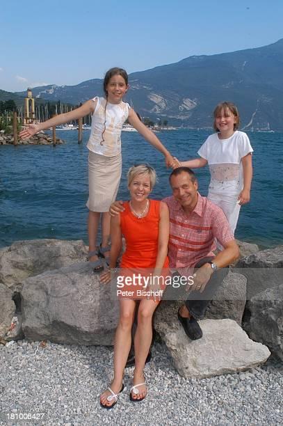 Daniela Lohmeyer, Christoph Schobesberger, Tochter Lea-Maria Schobesberger , Marleine Schobesberger , Urlaub, Riva di Garda/Italien, , Gardasee,...