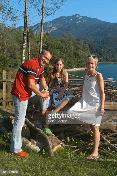 Daniela Lohmeyer, Christoph Schobesberger, Tochter Lea-Maria Schobesberger , Urlaub, Lago di Ledro/Italien, , Nähe Gardasee, Schauspieler,...