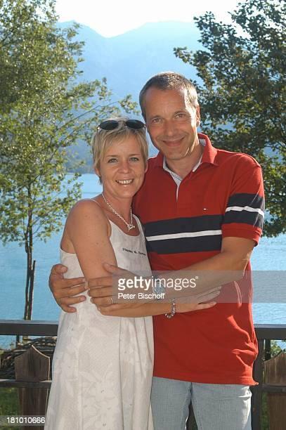 Daniela Lohmeyer Christoph Schobesberger Urlaub Lago di Ledro/Italien Gardasee Schauspieler Schauspielerin Familie Frau Ehefrau Mann Ehemann See...