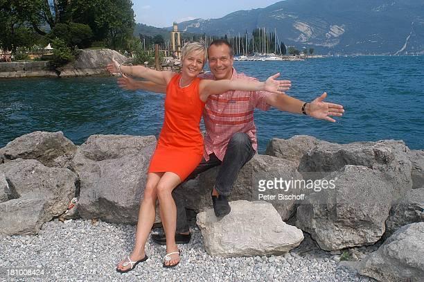 Daniela Lohmeyer, Christoph Schobesberger, Urlaub, Riva di Garda/Italien, , Gardasee, Schauspieler, Schauspielerin, Familie, Frau, Ehefrau, Mann,...