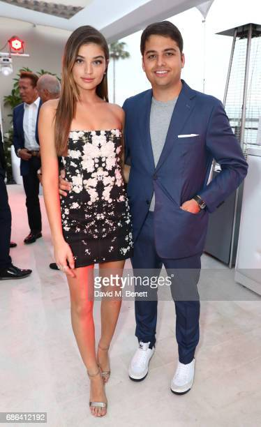 Daniela Lopez and Jamie Reuben attend a dinner hosted by Jamie Reuben Michael Kives with Arnold Schwarzenegger to celebrate JeanMichel Cousteau's...