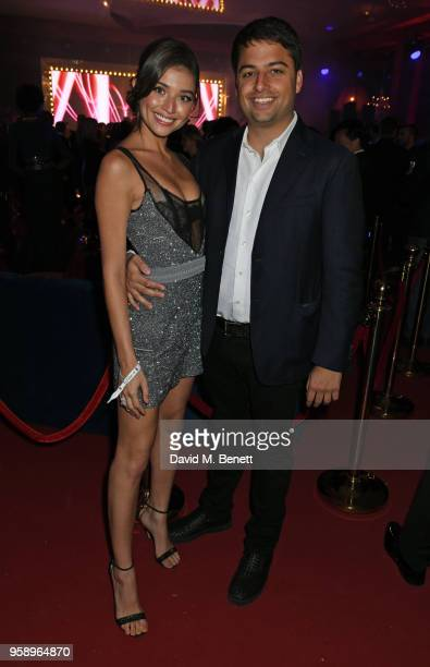 Daniela Lopez and Jamie Reuben attend the de Grisogono party during the 71st annual Cannes Film Festival at Villa des Oliviers on May 15 2018 in Cap...