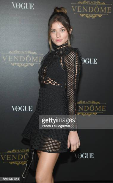 Daniela Lopez attends the Vogue Party as part of the Paris Fashion Week Womenswear Spring/Summer 2018 at Le Petit Palais on October 1 2017 in Paris...