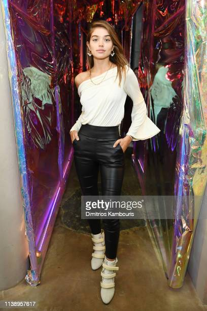 Daniela Lopez Osorio attends the launch of Drunk Elephant's Slaai MakeupMelting Butter Cleanser at Greenwich Hotel on March 28 2019 in New York City
