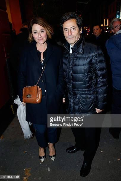 """Daniela Lumbroso and her husband Eric Ghebali attend Louis-Michel Colla, the Director of the """"Theatre de la Gaite Montparnasse"""", Celebrates his 60th..."""
