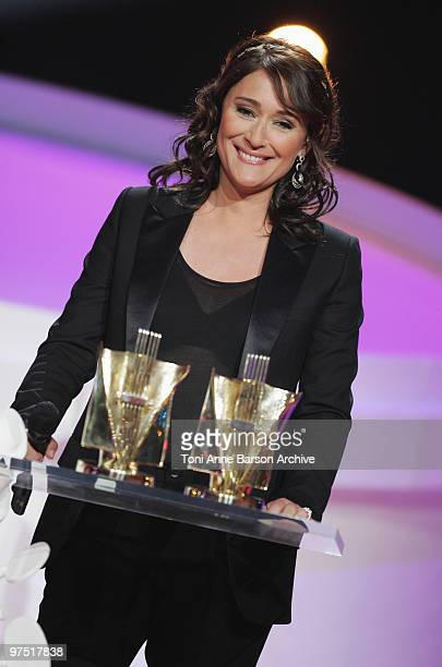Daniela Lumbroso attends the 25th Victoires de la Musique at Zenith de Paris on March 6, 2010 in Paris, France.