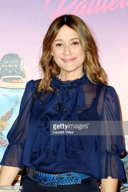 """Daniela Lumbroso attends The """"Les Crevettes Paillettees"""" Premiere At Cinema Le Grand Rex on April 16, 2019 in Paris, France."""