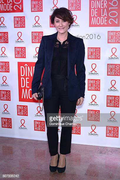 Daniela Lumbroso attends the Sidaction Gala Dinner 2016 as part of Paris Fashion Week on January 28, 2016 in Paris, France.