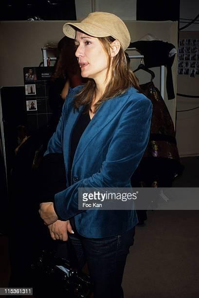Daniela Lumbroso during Paris Fashion Week Ready To Wear Fall/Winter 2005 - Jean Louis Scherrer Show at Backstage Carrousel Du Louvre in Paris,...