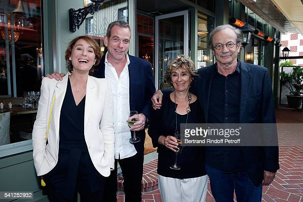 Daniela Lumbroso Garou Josiane Stoleru and Patrick Chesnais attend the Hotel Normandy ReOpening at Hotel Normandy on June 18 2016 in Deauville France