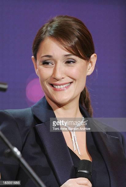 Daniela Lumbroso host of the Fete de la Chanson Francaise for France Television in Salle Pleyel on January 19, 2009 in Paris, France.