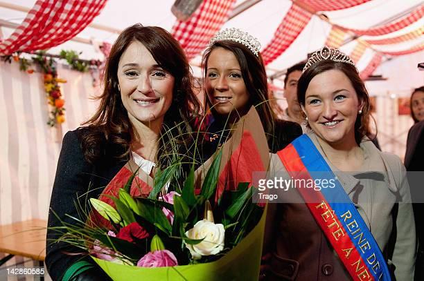 Daniela Lumbroso inagurates the Daniela Lumbroso Square At Foire Du Trone on April 13, 2012 in Paris, France.