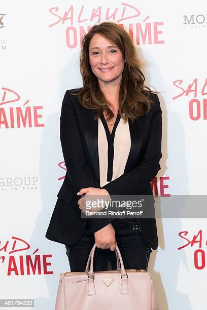 """Daniela Lumbroso poses during the premiere of """"Salaud, on t'aime"""" directed by French director Claude Lelouch at Cinema UGC Normandie on March 31,..."""