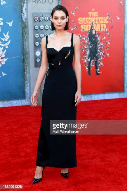 """Daniela Melchior attends the Warner Bros. Premiere of """"The Suicide Squad"""" at Regency Village Theatre on August 02, 2021 in Los Angeles, California."""