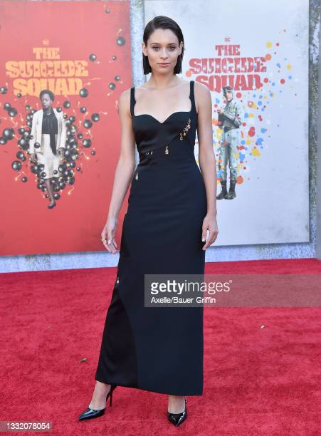 """Daniela Melchior attends Warner Bros. Premiere of """"The Suicide Squad"""" at The Landmark Westwood on August 02, 2021 in Los Angeles, California."""