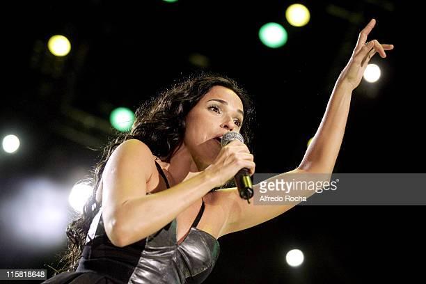 Daniela Mercury during Rock In Rio Lisboa - Day 5 at Belavista Park in Lisbon, Belavista Park, Portugal.