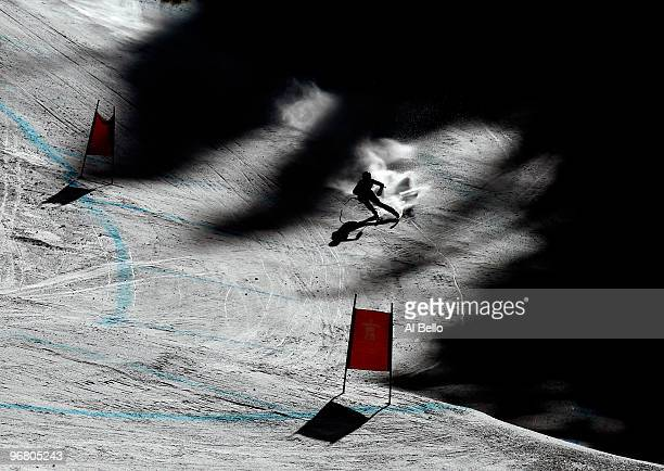 Daniela Merighetti of Italy competes during the Alpine Skiing Ladies Downhill on day 6 of the Vancouver 2010 Winter Olympics at Whistler Creekside on...