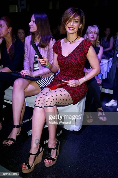 Daniela Michalski arrives for the Barbara Schwarzer show during Platform Fashion July 2015 at Areal Boehler on July 26 2015 in Duesseldorf Germany