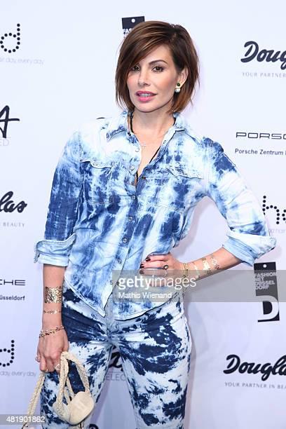 Daniela Michalski arrives for the Fashion Net Presents Duesseldorf Designers show during Platform Fashion July 2015 at Areal Boehler on July 25 2015...
