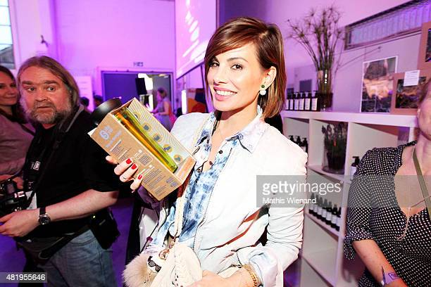 Daniela Michalski arrives for the Unique show during Platform Fashion July 2015 at Areal Boehler on July 25 2015 in Duesseldorf Germany