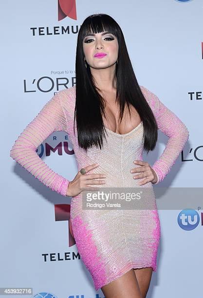 Daniela Navarro arrives at Premios Tu Mundo Awards at American Airlines Arena on August 21 2014 in Miami Florida