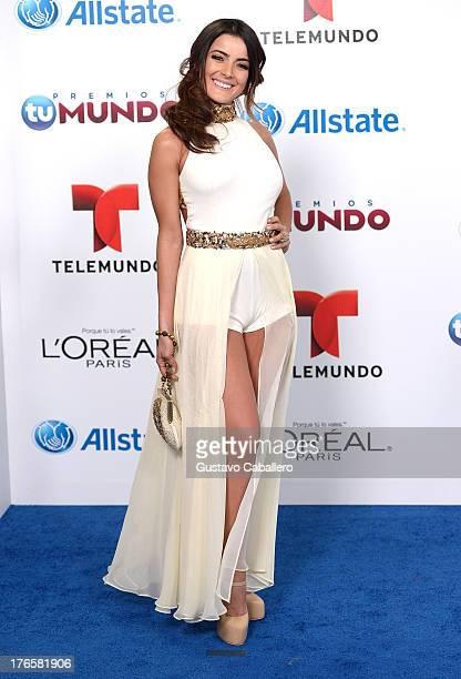 Daniela Navarro arrives for Telemundo's Premios Tu Mundo Awards at American Airlines Arena on August 15 2013 in Miami Florida