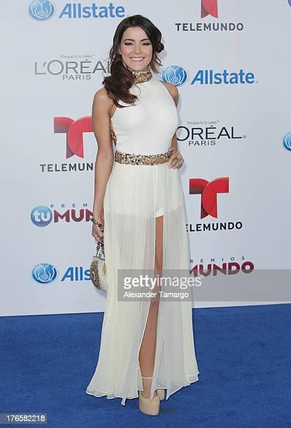 Daniela Navarro attends Telemundo's Premios Tu Mundo Awards at American Airlines Arena on August 15 2013 in Miami Florida