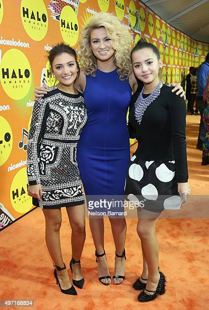 Daniela Nieves Tori Kelly and Isabela Moner attend the 2015 Nickelodeon HALO Awards at Pier 36 on November 14 2015 in New York City