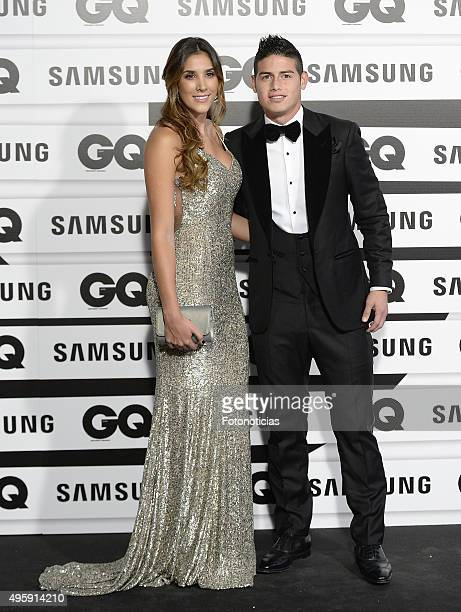 Daniela Ospina and James Rodriguez attend the GQ Men Of The Year Awards at The Palace Hotel on November 5 2015 in Madrid Spain