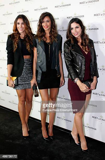 Daniela Ospina Joana Sanz and Melissa Jimenez attend 'Moet Chandon' party on December 2 2015 in Madrid Spain