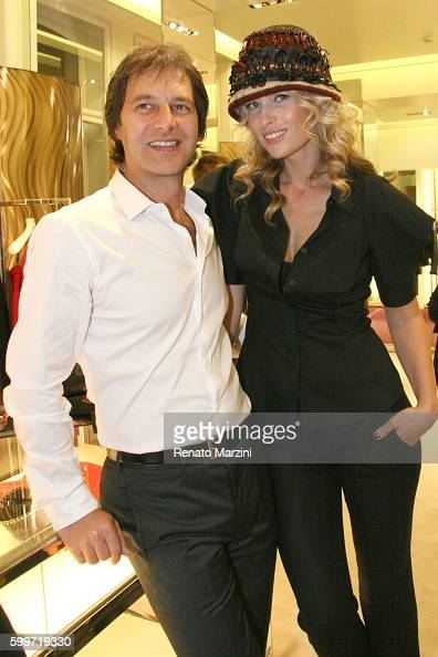 Daniela Pestova and her husband Pavol Habera attend the