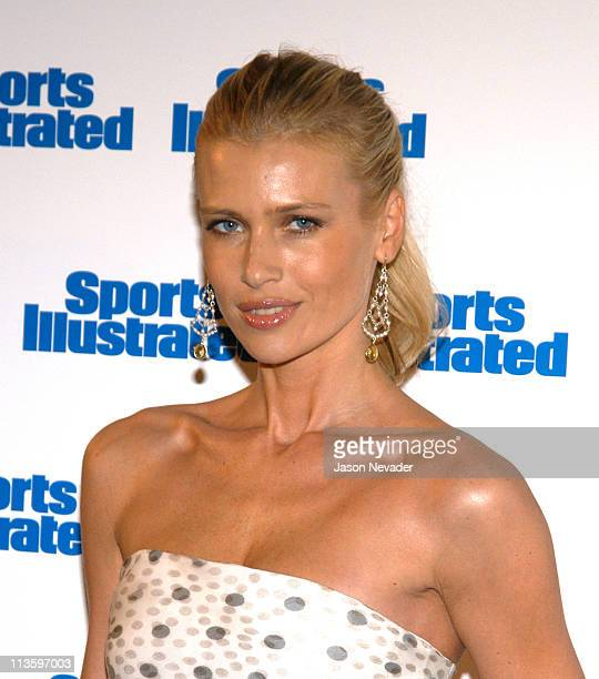 Daniela Pestova during 2003 Sports Illustrated Swimsuit Issue Press Conference at Gotham Hall in New York City New York United States