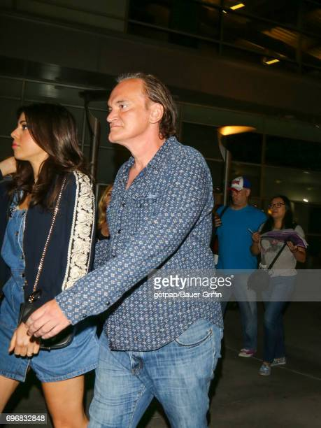 Daniela Pick and Quentin Tarantino are seen on June 16 2017 in Los Angeles California