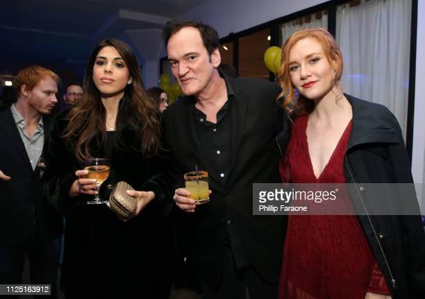 Daniela Pick Quentin Tarantino and Madisen Beaty attend the 3rd annual Kodak Awards at Hudson Loft on February 15 2019 in Los Angeles California